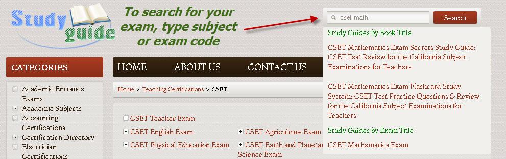 CSET: Multiple Subjects Preparation Materials