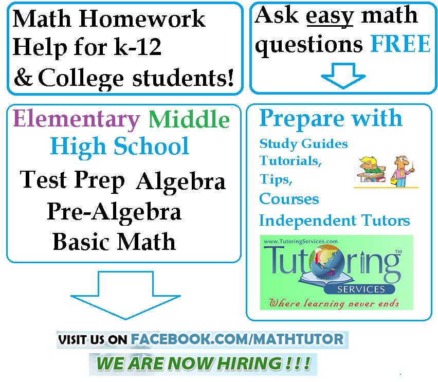 High school math homework helper