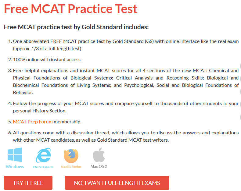 how to get mcat full lengths free student doctor