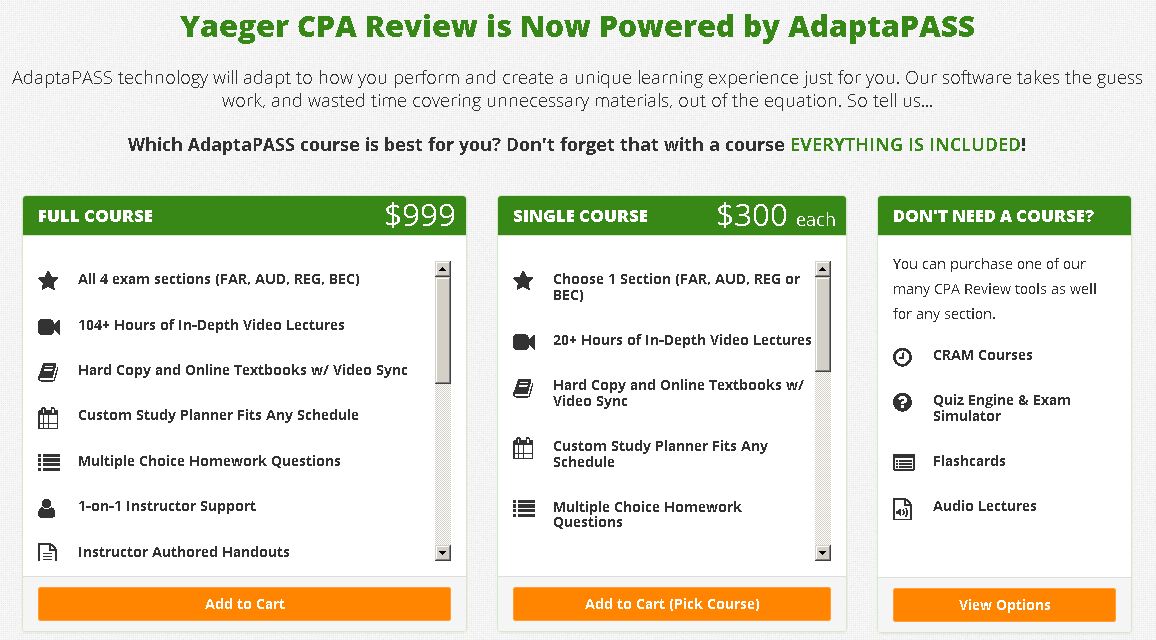 CPA Yaeger Review Course | The Ultimate Learning Machine