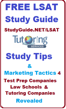 FREE LSAT study tips 4 students and test prep companies