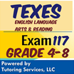 117 Texes info English Language Arts and Reading Exam for grade level 4 - 8